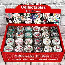 Продажа кратно 12 шт! Подарочная коробка жестяная ФЛАМИНГО 412-11 (0804). МИКС картинок