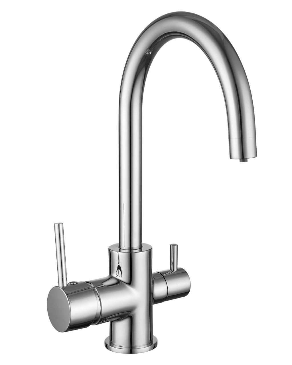 Кухонный смеситель на две воды Imprese Daicy-U 55009-U, Хром