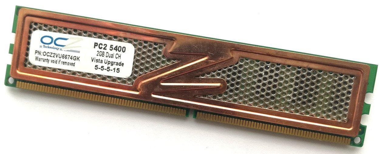 Игровая оперативная память OCZ DDR2 2Gb 667MHz PC2 5400U CL5 (OCZ2VU6674GK) Б/У