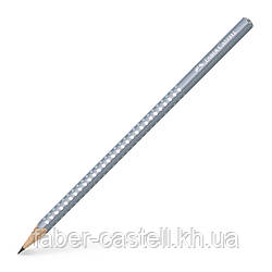 Карандаш чернографитный Faber-Castell Grip Sparkle Pearl серый корпус, 118202