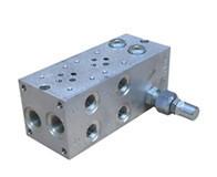 Плита с предохранительным клапаном  ДУ 6  (6 портов) Цена указана с НДС