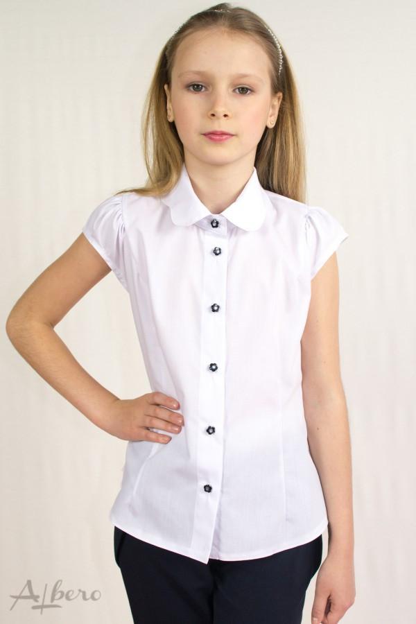Школьная блуза  белый р. 122,128, 134, 140, 146, 152