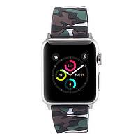 Ремешок для часов Apple Watch 42 мм 44 мм силиконовый с пряжкой, Camouflage with brown, фото 3