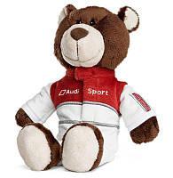 Плюшевый медведь-автогонщик Audi Sport Motorsport Bear, артикул 3201600800 Оригинал