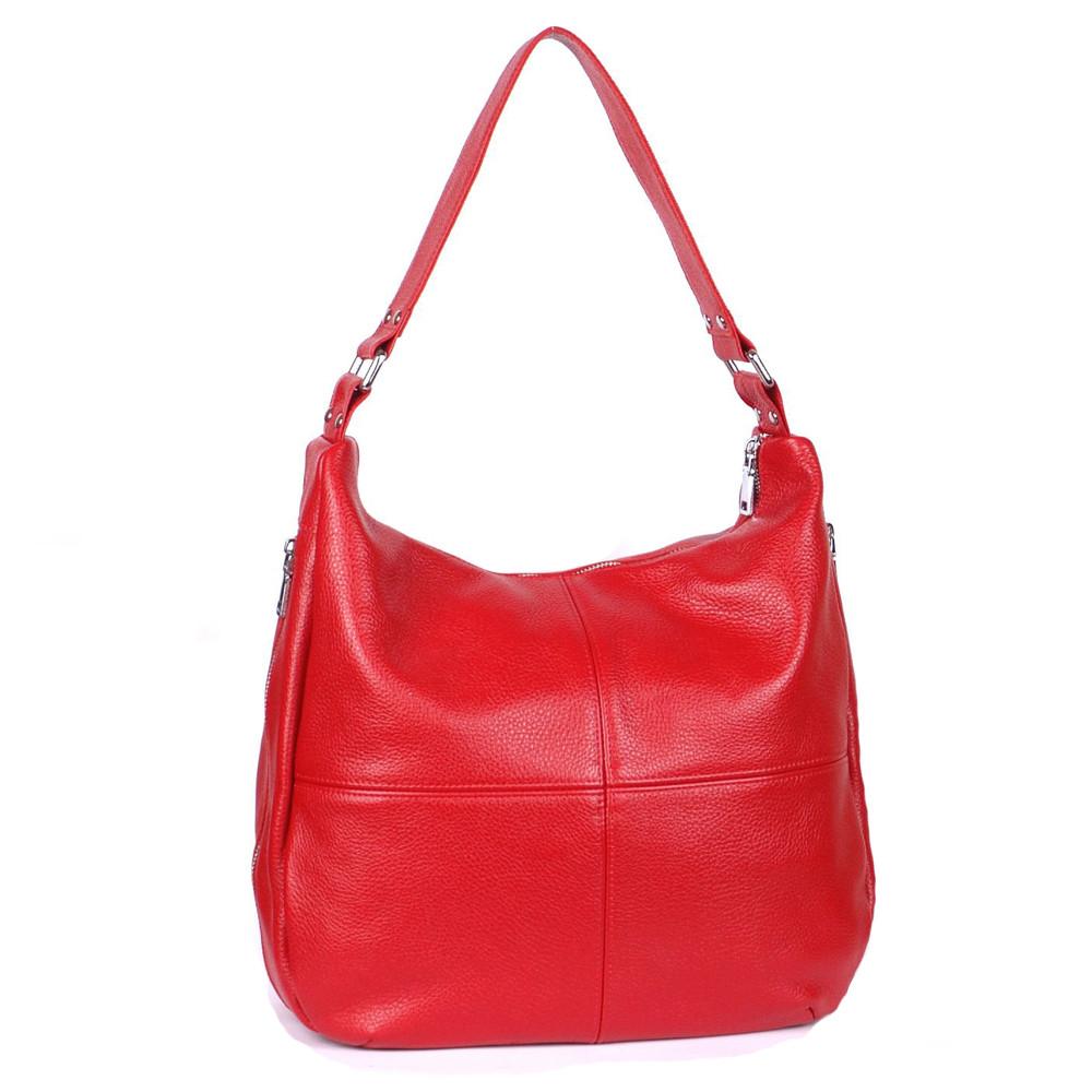 Женская кожаная сумка 14 красный флотар 01140107