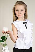 Школьная блуза  белый р. 122,128, 134, 140, 146