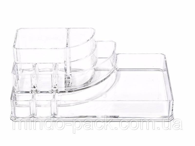 Пластиковый органайзер для косметики средний (yh-1118)