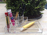 Пластиковый органайзер для косметики средний (yh-1118), фото 2