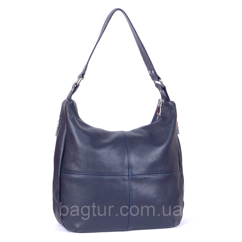 Женская кожаная сумка 14 темно-синий флотар 01140103