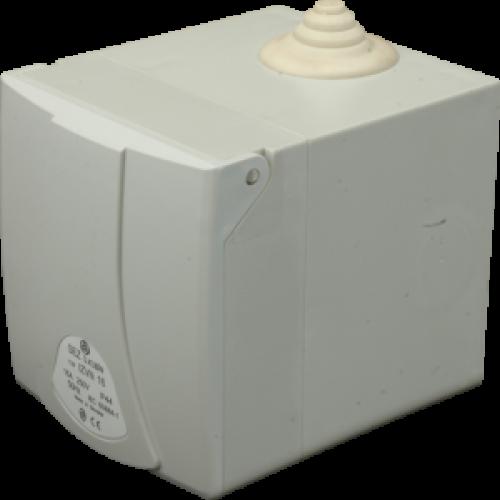 Розетка настенная IZVN 3253 в коробке з кришкой IP44 (32A, 400V, 3P+N+PE) SEZ