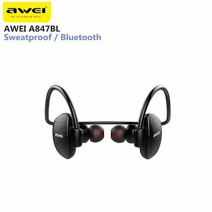 Спортивные Bluetooth наушники Awei A847BL, фото 2