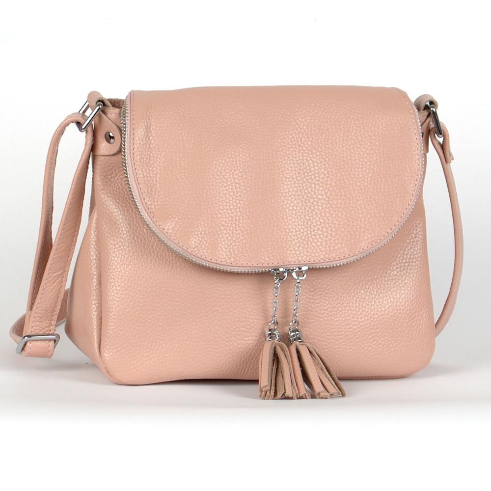 Женская сумка кожаная 19 пудра флотар 01190113