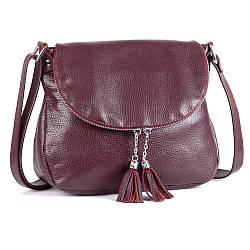 Женская сумка кожаная кросс-боди 19 марсала флотар 01190104