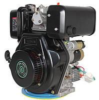 Двигатель дизельный Grunwelt GW 186 FВE (9,5 л.с., вал шлицы 25 мм, эл.стартер)
