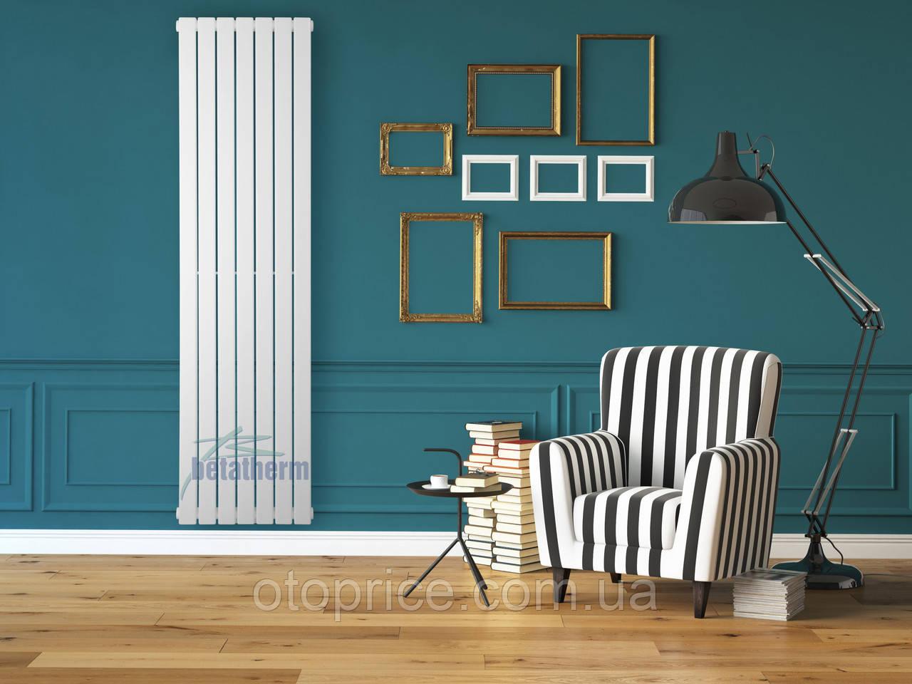 Дизайнерский вертикальный радиатор 1600/394 Blende Betatherm 10-12 м.кв.