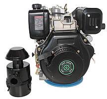 Двигатель дизельный Grunwelt GW 192 FE (14 л.с., шпонка, электростартер, 25 мм)