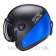 Шлем для горных лыж HMR Carbon&Specisal Blue Racing Grey/blue 515