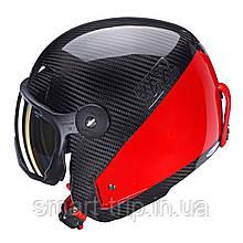 Шлем для горных лыж HMR Carbon&Specisal Red Racing Grey/red 514