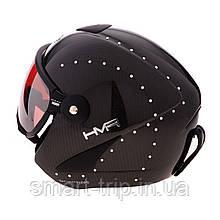 Шлем для горных лыж HMR Swarovski Brilliant Carbon Black 506