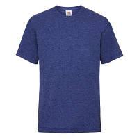 Стильная летняя подростковая однотонная футболка цвет синий меланж