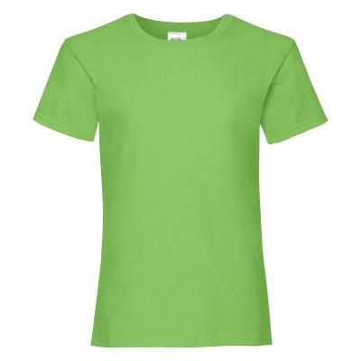 Стильная летняя футболка для девочки цвет лайм (салатовый)