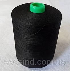 Черные швейные 30/2  мерсеризированные хлопковые нитки 5000 ярдов