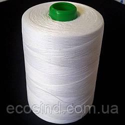 Белые швейные 30/2  мерсеризированные хлопковые нитки 5000 ярдов
