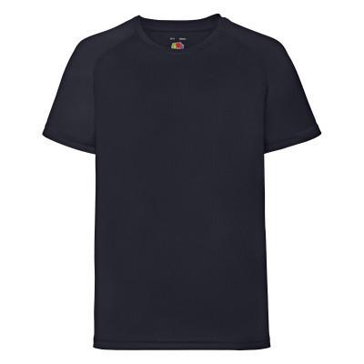 Темно-синяя детская футболка для занятий спортом - 116, 128, 152, 164