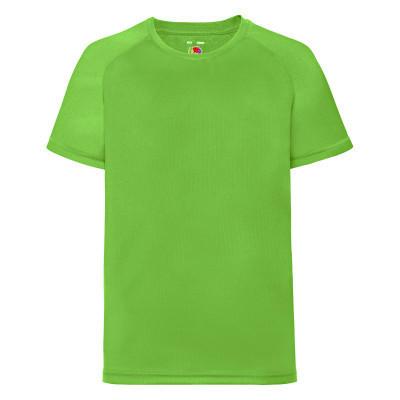 Подростковая спортивная футболка цвета лайм (ярко-салатовая) - 104, 116, 140, 152, 164