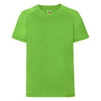 Подростковая спортивная футболка цвета лайм (ярко-салатовая) - 104, 116, 140, 152, 164, фото 1