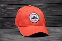 Кепка Бейсболка Converse летняя шестиклинка стильная красная, фото 1