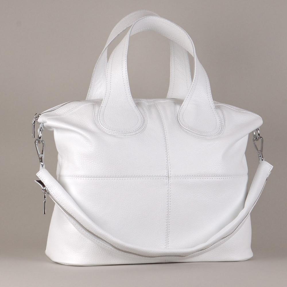 Женская кожаная сумка 22 белая 01220102