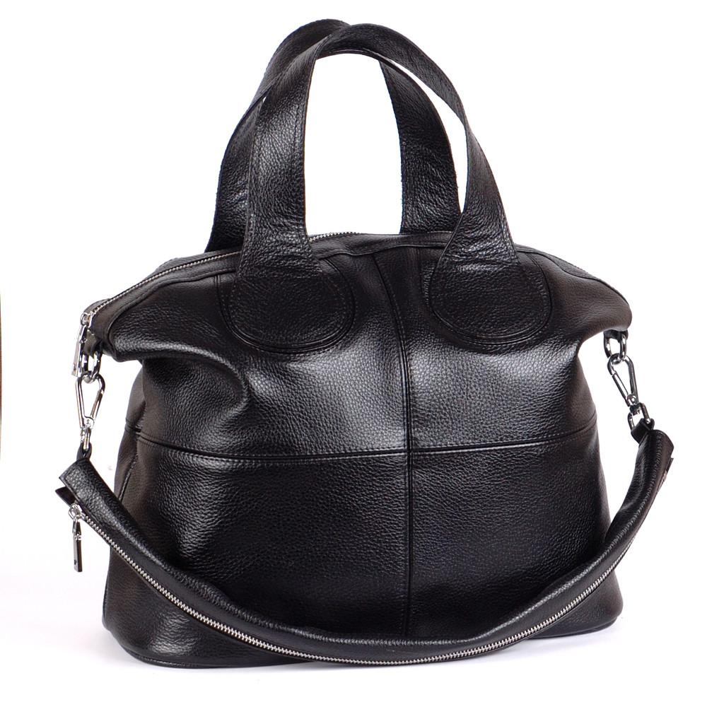Женская кожаная сумка 22 черный флотар 01220101