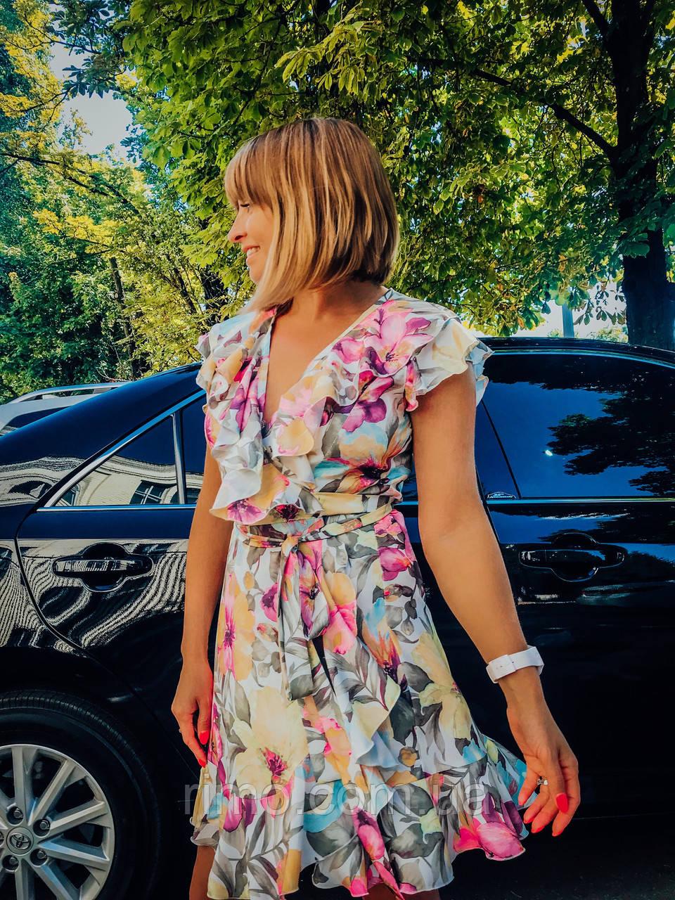 Плаття на запах літній Силена бузковий