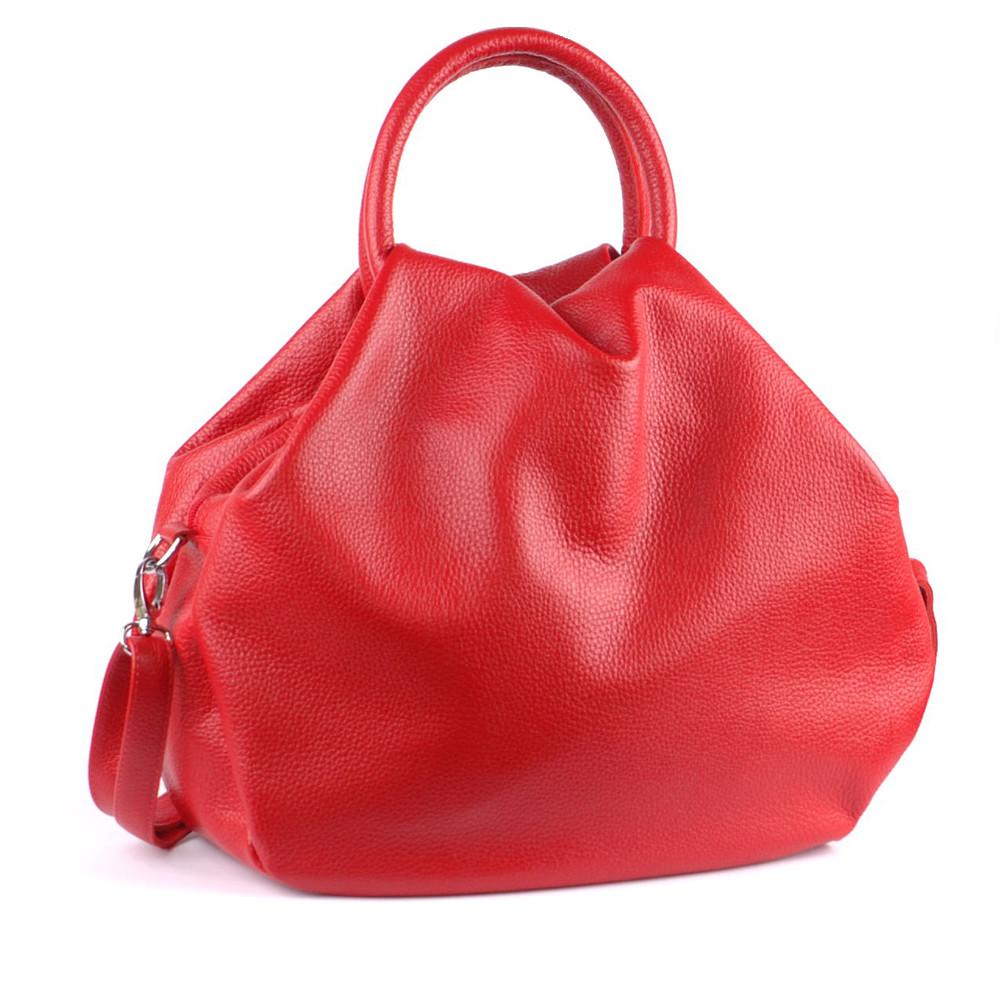 Женская кожаная сумка 31 красная 01310107