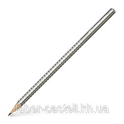 Карандаш чернографитный Faber-Castell Grip Sparkle Pearl серебряный корпус, 118213