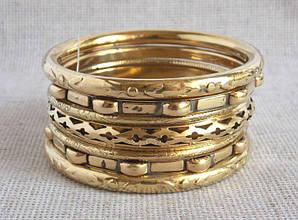 Индийские браслеты под золото(7 шт)