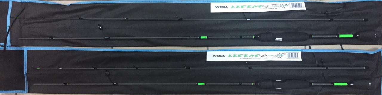 Штекерный спиннинг Weida Legend 1.98m, тест 2-8g