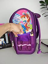 Рюкзак каркасный ортопедический фиолетового цвета с изображением Winx, фото 3