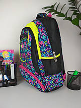 Школьный рюкзак с орнаментом для девочки 45*28*19 см, фото 2