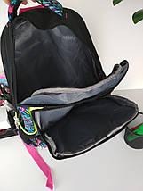 Школьный рюкзак с орнаментом для девочки 45*28*19 см, фото 3