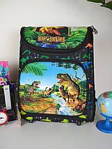 Каркасный школьный рюкзак для мальчика с динозаврами 3D 30*26*16 см, фото 2