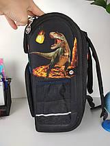 Каркасный школьный рюкзак для мальчика с динозаврами 3D 30*26*16 см, фото 3