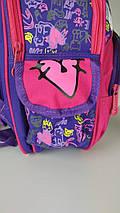 Школьный фиолетовый портфель для девочки с кошечками 38*28*16 см, фото 3