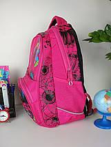 Школьный малиновый рюкзак с цветочным принтом для девочки 40*20*19 см, фото 3