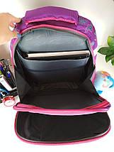 Школьный рюкзак Miqini фиолетового цвета с бабочками для девочки 40*28*19 см, фото 2