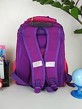 Школьный рюкзак Miqini фиолетового цвета с бабочками для девочки 40*28*19 см, фото 3