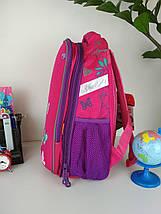Розовый школьный портфель Miqini с бабочками для девочки 40*28*19 см, фото 2