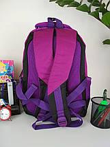 Школьный фиолетовый рюкзак с анатомической спинкой для девочки 38*30*23 см, фото 2