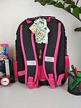Школьный ортопедический розовый рюкзак с принтом кошка для девочки 38*30*23 см, фото 3